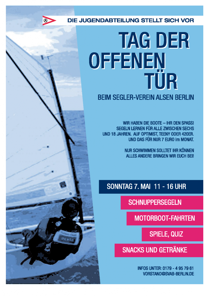 Wann ist tag der offenen tür  Tag der offenen Tür im SVAB, Jugendabteilung – Segler-Verein Alsen ...